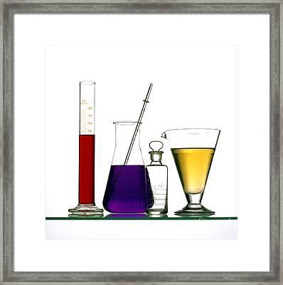 Chemistry Framed Print by Bernard Jaubert