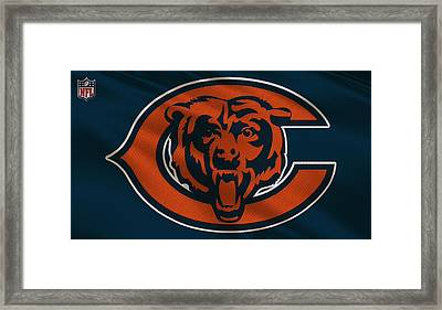 Chicago Bears Uniform Framed Print by Joe Hamilton
