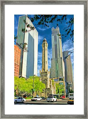 Chicago Water Tower Shopping Framed Print by Christopher Arndt