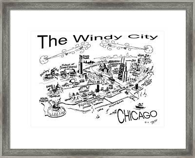 Chicago's Points Of Interest Framed Print by Robert Tiritilli