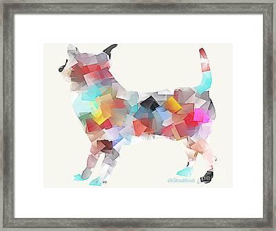 Chihuahua Dog Framed Print by Bri B