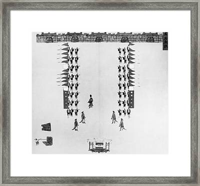 China Army Drills, C1900 Framed Print by Granger