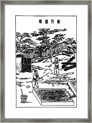 China Paper Manufacture Framed Print by Granger