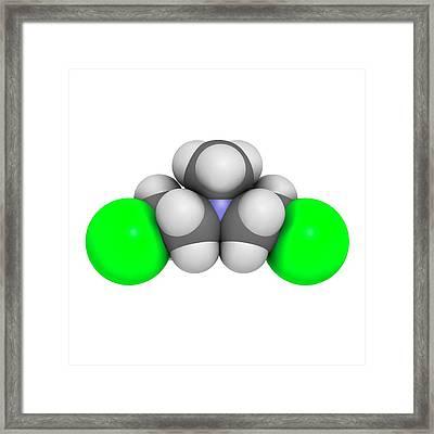 Chlormethine Cancer Chemotherapy Drug Framed Print by Molekuul