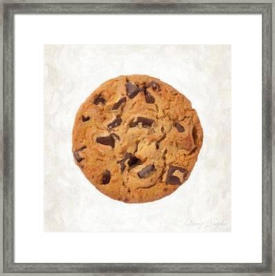 Chocolate Chip Cookie  Framed Print by Danny Smythe