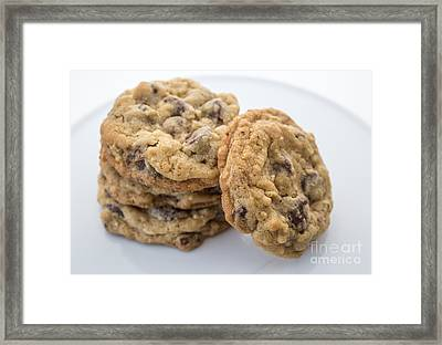 Chocolate Chip Cookies Framed Print by Edward Fielding
