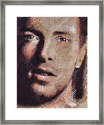 Chris Martin - Coldplay Framed Print by Daliana Pacuraru