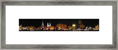 Christmas Market Framed Print by Gary Lobdell