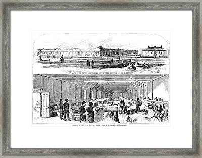 Civil War Hospital Framed Print by Granger