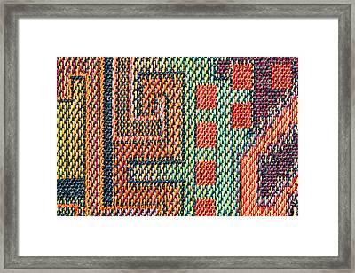 Cloth Pattern Framed Print by Tom Gowanlock