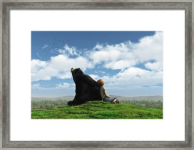Cloud Watchers Framed Print by Cynthia Decker