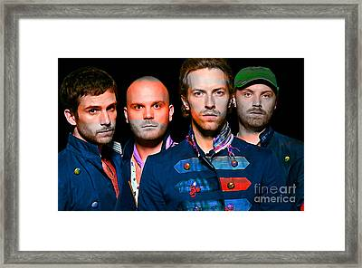 Coldplay Framed Print by Marvin Blaine