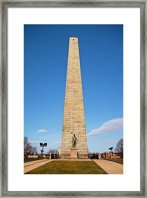 Colonel William Prescott Statue Framed Print by Brian Jannsen