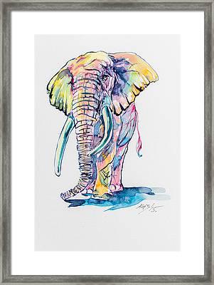 Colorful Elephant Framed Print by Kovacs Anna Brigitta