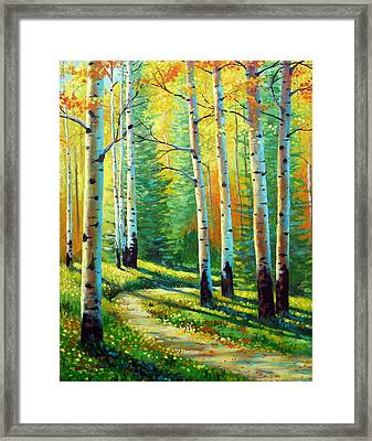Colors Of The Season Framed Print by David G Paul
