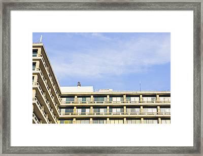 Concrete Building Framed Print by Tom Gowanlock