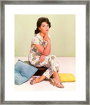 Connie Francis Framed Print by Silver Screen