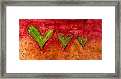 Contemporary Heart Painting Framed Print by Ivan Guaderrama