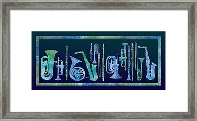 Cool Blue Band Framed Print by Jenny Armitage