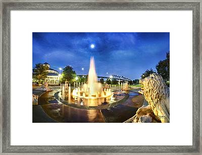 Coolidge Park Fountains At Night Framed Print by Steven Llorca
