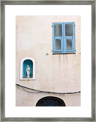 Corsican Houses And Buildings Framed Print by Jean Schweitzer