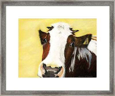 Cow No. 0650 Framed Print by Carol McCarty