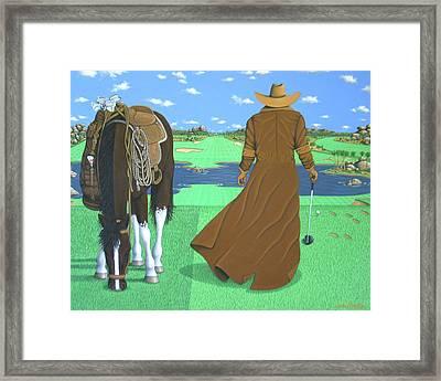 Cowboy Caddy Framed Print by Lance Headlee