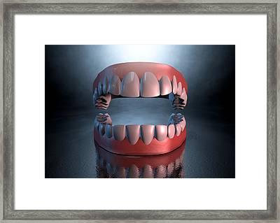 Creepy Teeth  Framed Print by Allan Swart