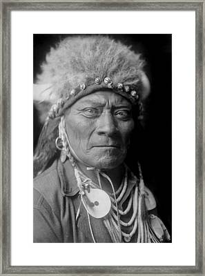 Crow Indian Man Circa 1908 Framed Print by Aged Pixel