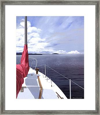 Cruising North Framed Print by Gary Giacomelli