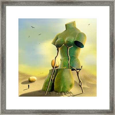 Crutches Framed Print by Mike McGlothlen