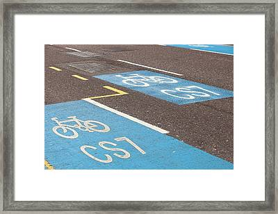Cycle Superhighway Framed Print by Ashley Cooper