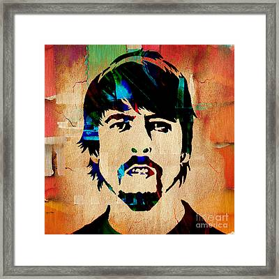 Dave Grohl Foo Fighters Framed Print by Marvin Blaine