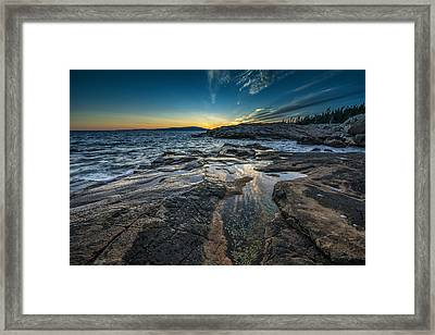 Day's End Framed Print by Rick Berk