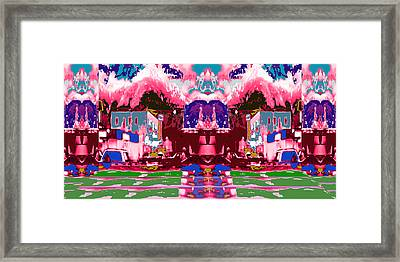Decorated City Scape For Holidays Christmas And Local Celebrations  Unique Signature Style Graphic P Framed Print by Navin Joshi