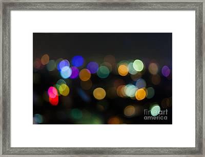 Defocused Lights Framed Print by Fototrav Print