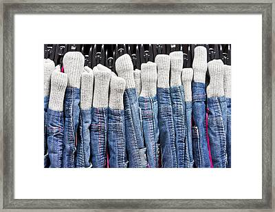 Denim Framed Print by Tom Gowanlock