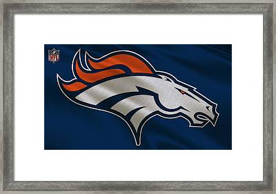 Denver Broncos Uniform Framed Print by Joe Hamilton