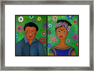 Diego And Frida Framed Print by Pristine Cartera Turkus