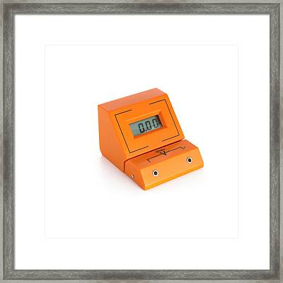 Digital Voltmeter Framed Print by Science Photo Library