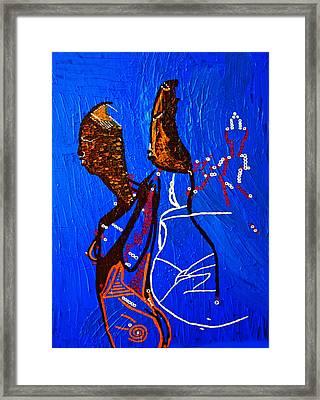 Dinka Embrace - South Sudan Framed Print by Gloria Ssali