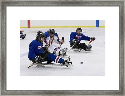 Disabled Ice Hockey Framed Print by Jim West