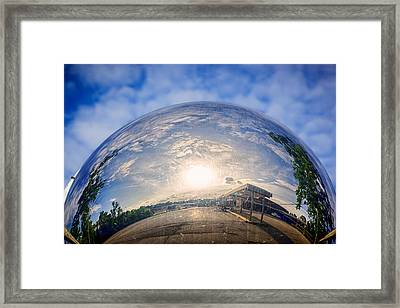 Distorted Reflection Framed Print by Sennie Pierson