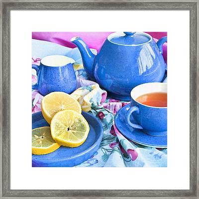 Do You Take Lemon? Framed Print by Theresa Tahara