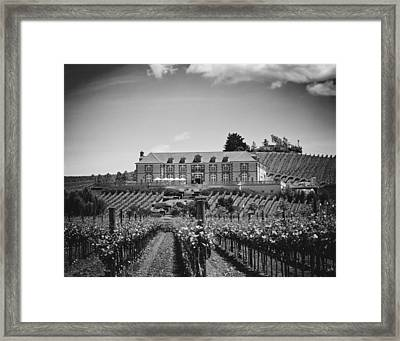 Domaine Carneros Winery - Napa Valley Framed Print by Mountain Dreams
