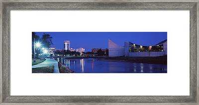 Downtown Wichita Viewed From The Bank Framed Print by Panoramic Images