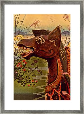 Dragon With Hiroshige Framed Print by Jeff  Gettis