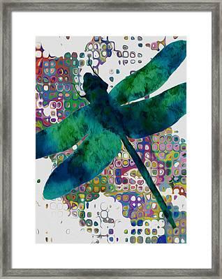 Dragonfly Framed Print by Jack Zulli