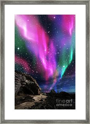 Dramatic Aurora Framed Print by Atiketta Sangasaeng