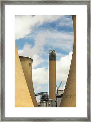 Drax Power Station In Yorkshire Framed Print by Ashley Cooper